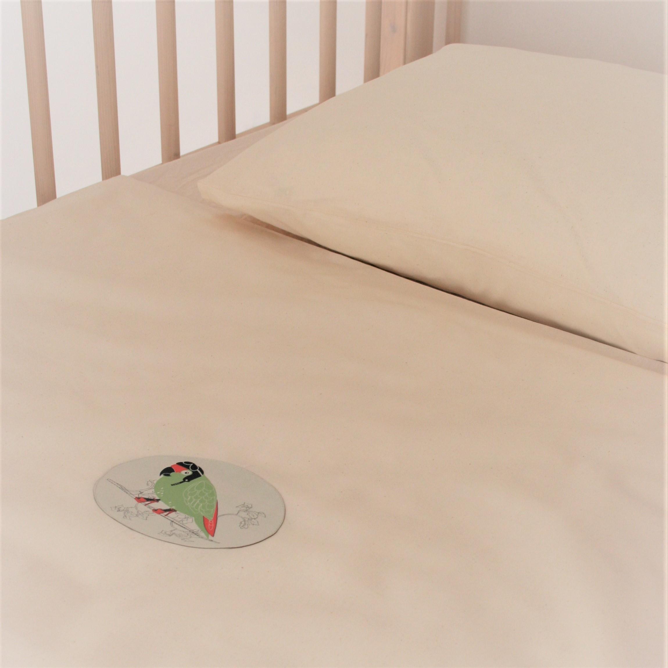 ia io bettw sche kba edel ehrlich bio bio kinder bettw sche vertr umter papagei. Black Bedroom Furniture Sets. Home Design Ideas